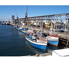 blue boats Photographic Print