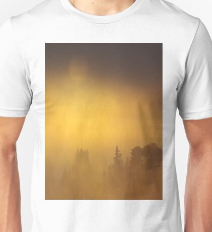 Yellow Gold Foggy Sunrise Unisex T-Shirt