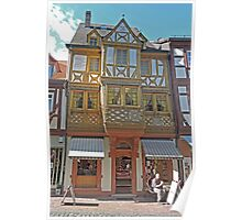 Old Building in Miltenberg Poster