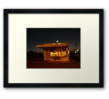 Milkbar at Night Framed Print