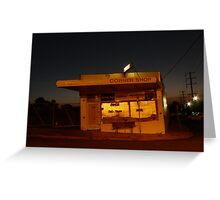 Milkbar at Night Greeting Card