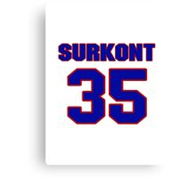 National baseball player Max Surkont jersey 35 Canvas Print