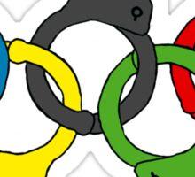 Five handcuffs Sticker