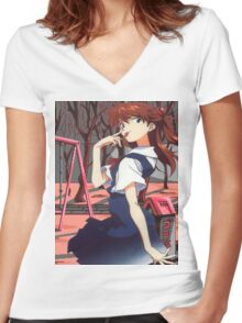 asuka. Women's Fitted V-Neck T-Shirt
