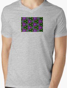 At Night the Purple Violets Bloom Mens V-Neck T-Shirt