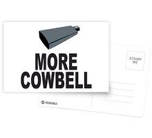 SNL More Cowbell Funny Geek Nerd Postcards