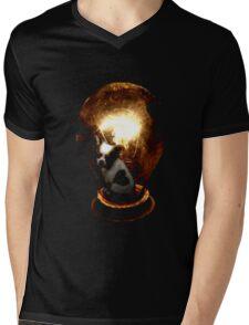 Look on the lighter side (Dog) Mens V-Neck T-Shirt