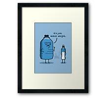Water Weight Framed Print