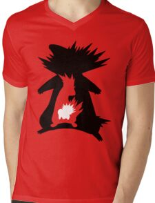 Cyndaquil Evolution T-Shirt Mens V-Neck T-Shirt