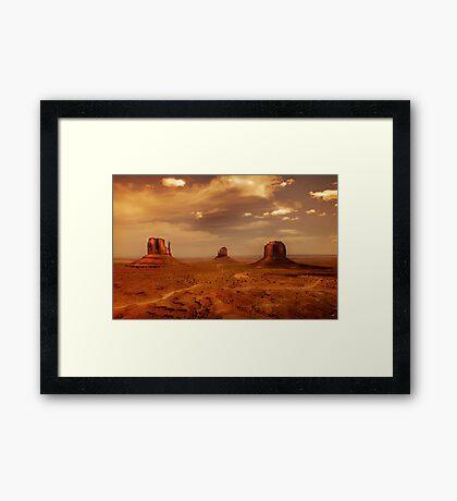 Earth's edge Framed Print