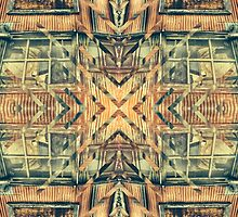 Geometric Rusty Grungy Abandoned Building Exterior by Beverly Claire Kaiya