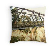 The Bridge to Ngaumu Throw Pillow