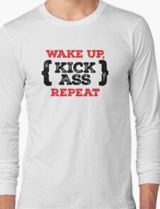 Motivational - Kick ass Long Sleeve T-Shirt