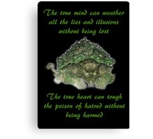 The Legend of Korra Lion Turle With Quote Canvas Print