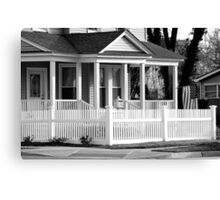 Patriotic Little corner House3-B&W Canvas Print