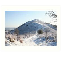 Snow on the Hill Art Print