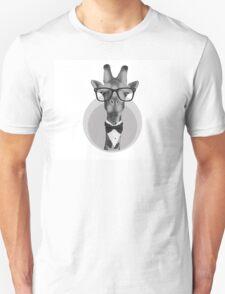 Hipster Giraffe Unisex T-Shirt