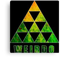 Weirdo Funny Geek Nerd Canvas Print