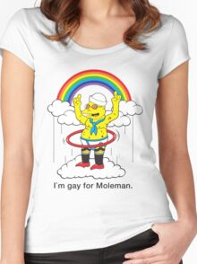 Gay For Moleman Women's Fitted Scoop T-Shirt