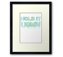 donna goudeau HOLD IT DOWN blue 11 Framed Print