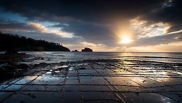 Tessellated Pavement, Tasmania by NickMonk