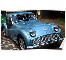 Triumph TR3A Blue Poster