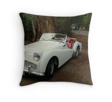Triumph TR3A Throw Pillow