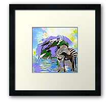 Earth A Home For All Framed Print