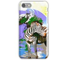 Zebra:  Earth A Home For All iPhone Case/Skin
