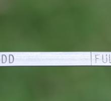 The Dipstick Sticker