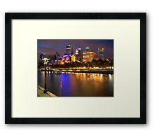 Melbourne City at Night II Framed Print
