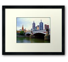 Princes Bridge Melbourne Framed Print