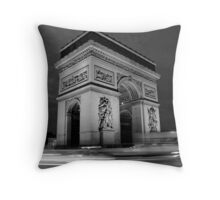 Paris Rush Hour Throw Pillow