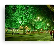 St Kilda Road , Melbourne, at Midnight  Canvas Print