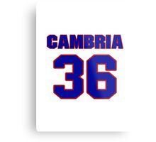 National baseball player Fred Cambria jersey 36 Metal Print