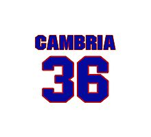 National baseball player Fred Cambria jersey 36 Photographic Print