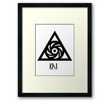 EXO Kai power logo Framed Print