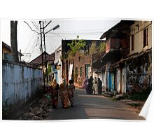 Walking Bazar Road Poster