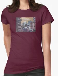 strange city Womens Fitted T-Shirt