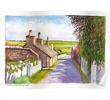 Thatched cottage, Cregneash, Isle of Man Poster