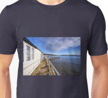 Behind The Cobb - Lyme Regis Unisex T-Shirt