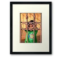 Three Ring Kid Framed Print