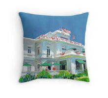 Spreckles Mansion on July Fourth Throw Pillow