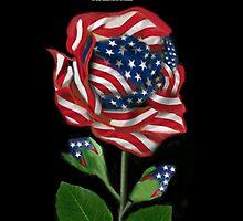 இڿڰۣ-ڰۣ—DESIGNED AMERICAN ROSE FOR THE USA PILLOW AND OR TOTE BAG..CARD AND OR PICTUREஇڿڰۣ-ڰۣ— by ✿✿ Bonita ✿✿ ђєℓℓσ