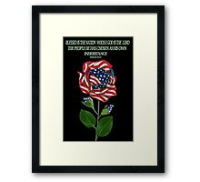 இڿڰۣ-ڰۣ—DESIGNED AMERICAN ROSE FOR THE USA PILLOW AND OR TOTE BAG..CARD AND OR PICTUREஇڿڰۣ-ڰۣ— Framed Print