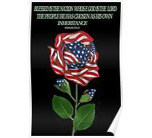 இڿڰۣ-ڰۣ—DESIGNED AMERICAN ROSE FOR THE USA PILLOW AND OR TOTE BAG..CARD AND OR PICTUREஇڿڰۣ-ڰۣ— Poster
