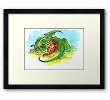 little dragons Framed Print