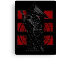 Pyramid Head Tribute (Black Background Only) Canvas Print