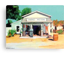 Red Long Johns are In - The Alvarado House painting by Riccoboni Metal Print
