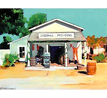 Red Long Johns are In - The Alvarado House painting by Riccoboni Photographic Print
